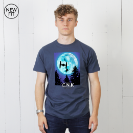 Fly Home Tee - Light Navy