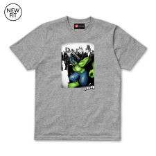 Green Protester Tee - Grey Marl