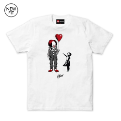 Dark Balloon Tee - White