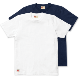Plain Classic Twin Pack Tee - White & Navy