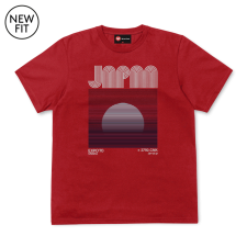Jap Sunrise 2 tee - Red