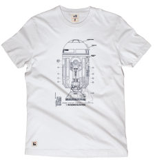 R2D2 Blueprint Tee - White