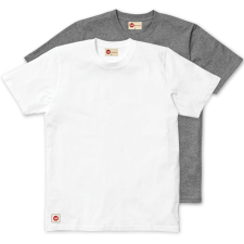 Plain Classic Twin Pack Tee - White & Grey