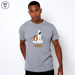 Back to the Past Tee - Grey Marl