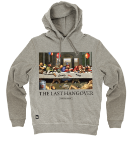 The Last Hangover Pullover Hoody - Grey