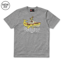 Yellow Whale Tee - Grey Marl