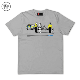 Speeding Ticket Tee - Sports Grey