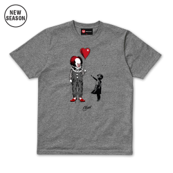 Dark Balloon Tee - Grey Marl