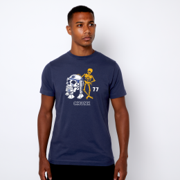 Skulls Wars Tee - Light Navy