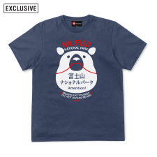 Jap Bear Tee - Denim Blue