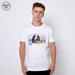 Drunk Bear Tee - White