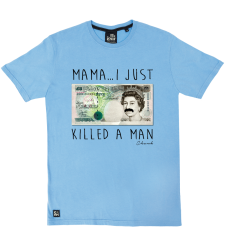 Mama I Killed A Man Tee - Sky