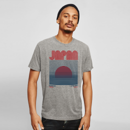 Jap Sunrise 2 tee - Grey Marl
