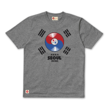 Seoul Music Tee - Grey Marl