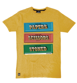 Papers, Scissors, Stoned Tee - Yellow