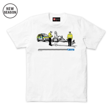 Speeding Ticket Tee - White