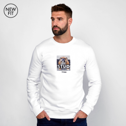 Stud Sweat - White