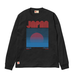 Japanese Sunrise L/S Tee - Black