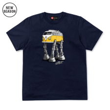 Solo Walking Camper Tee - Navy