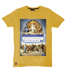 Friend Request Tee - Ochre