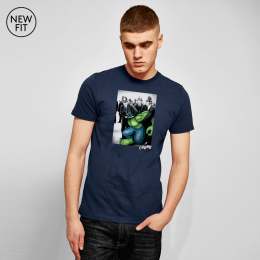 Green Protester Tee - Navy