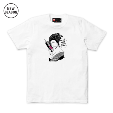 Geisha Phone Tee - White