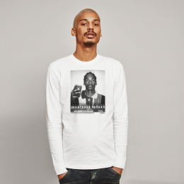 Snoop Mugshot L/S Tee - White