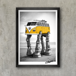 Walking Camper Poster