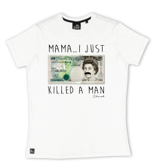 Mama I Killed A Man Tee - White