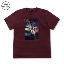 Back to the Darkside Tee - Burgundy