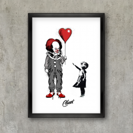 Dark Balloon Art Print